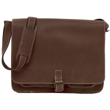 Greenburry Buffalo 1003 Leder Messenger Schultertasche mit Notebookfach in Tabak