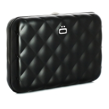 Ögon Quilted Button Card Holder Kartenetui RFID-safe