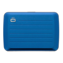 Ögon Stockholm V2 Aluminium Kartenetui RFID-safe Card Holder Blau
