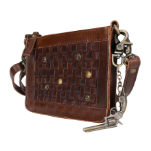 Greenburry Billy the Kid Nasty Cowboys Charlotte M494-25 Leder Clutch Schultertasche Braun