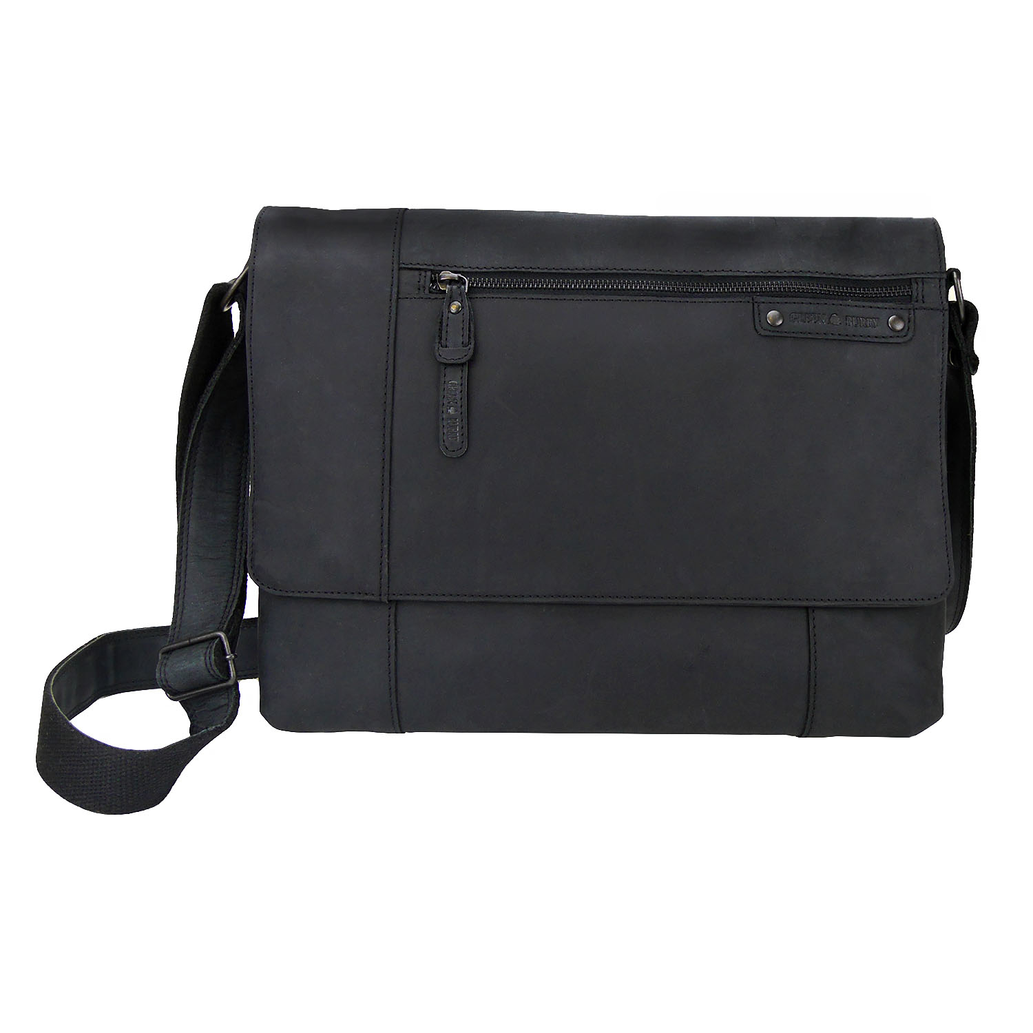 Greenburry Vintage Revival 1943-20 Leder Messenger Black